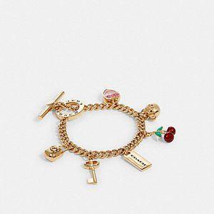 COACH Multi Charm Bracelet Gold